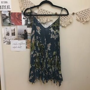 Free people teal floral slip size md